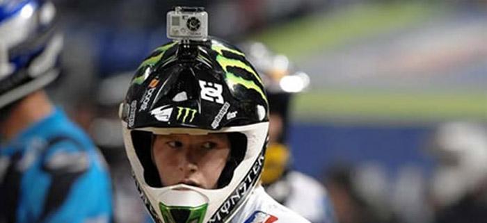 camera go pro no capacete